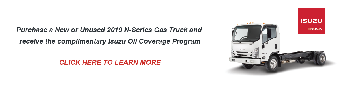 Isuzu Oil Program Banner